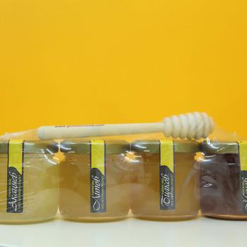 Geschenkverpakking  met houten honinglepeltje