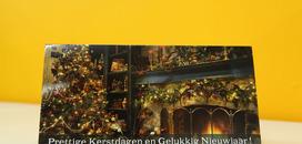 Wenskaart met bijenwas kaars